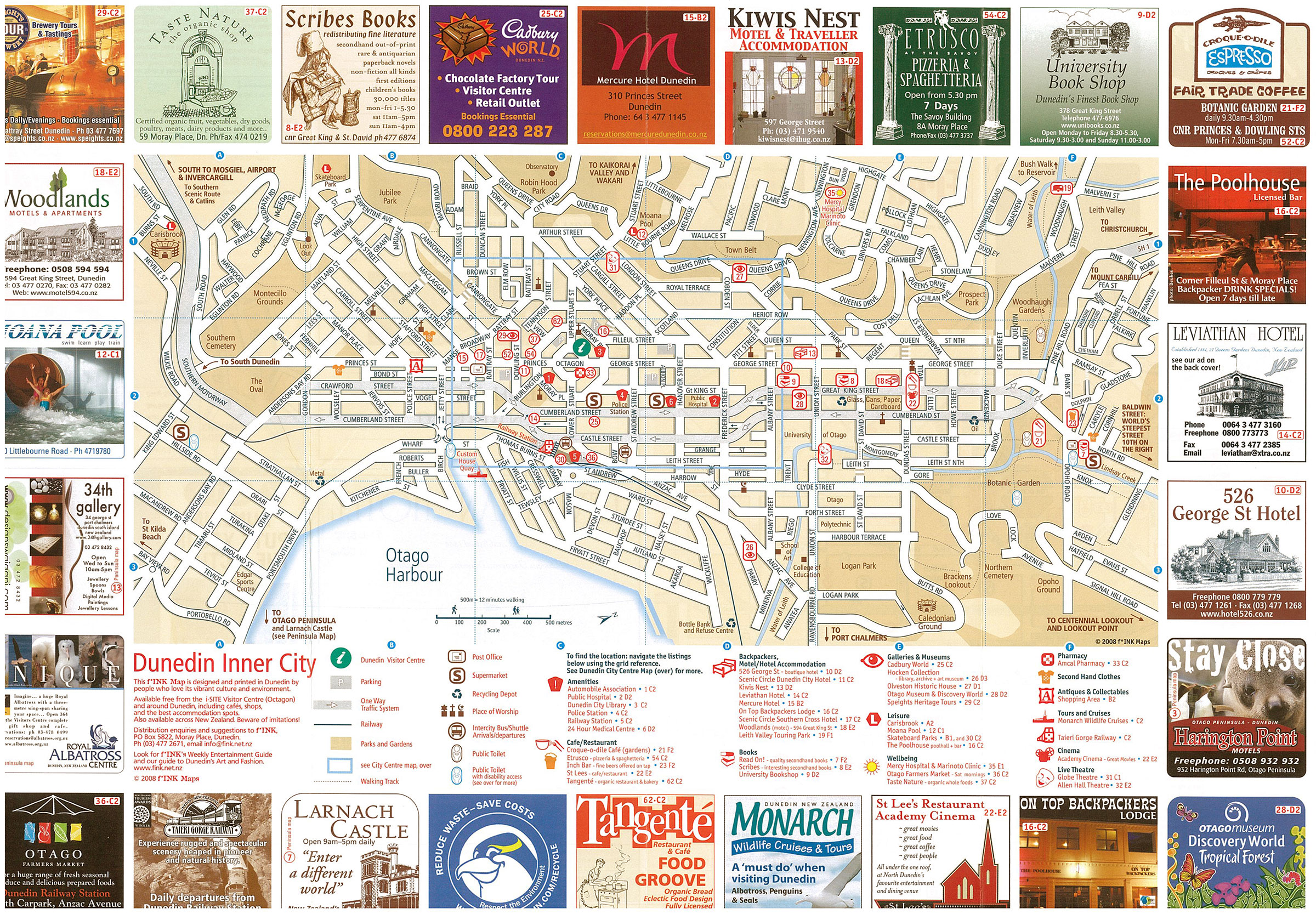 Dunedin Areas and Peninsula Map 2008 - 11th Edition